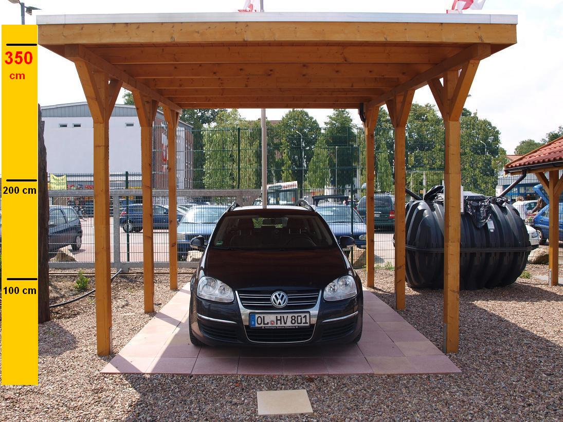 carport flachdachcarport einfahrtsh he 3 50 m 6 00 x 6. Black Bedroom Furniture Sets. Home Design Ideas