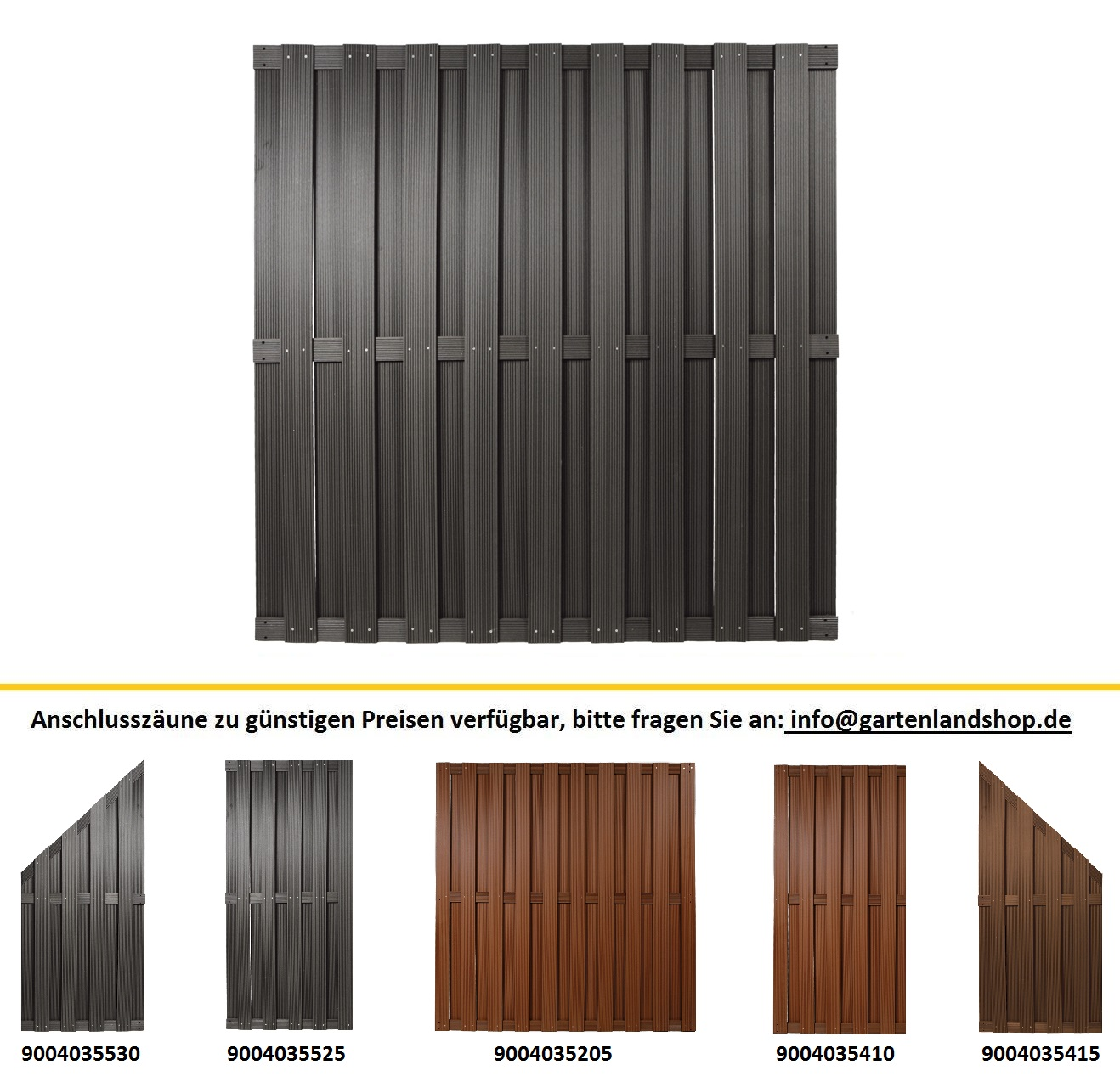 wpc zaun 1 80 x 1 80m top qualit t nie wieder streichen ebay. Black Bedroom Furniture Sets. Home Design Ideas